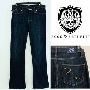 Rock & Republic • Kasandra Dark Bootcut Jean 10/30